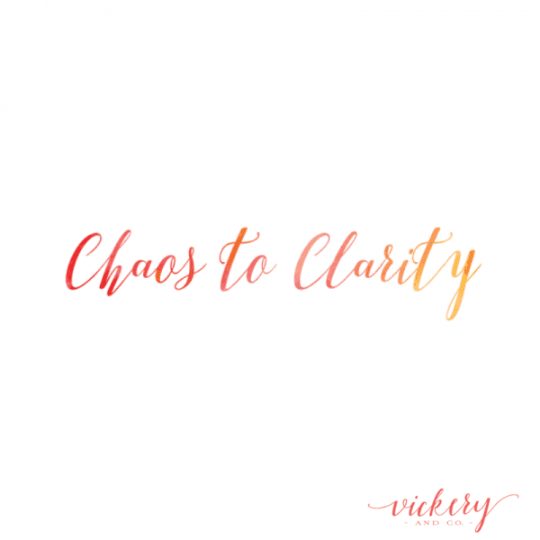 Chaos to Clarity, Heather Vickery, Success and Leadership Coach. Audio course.
