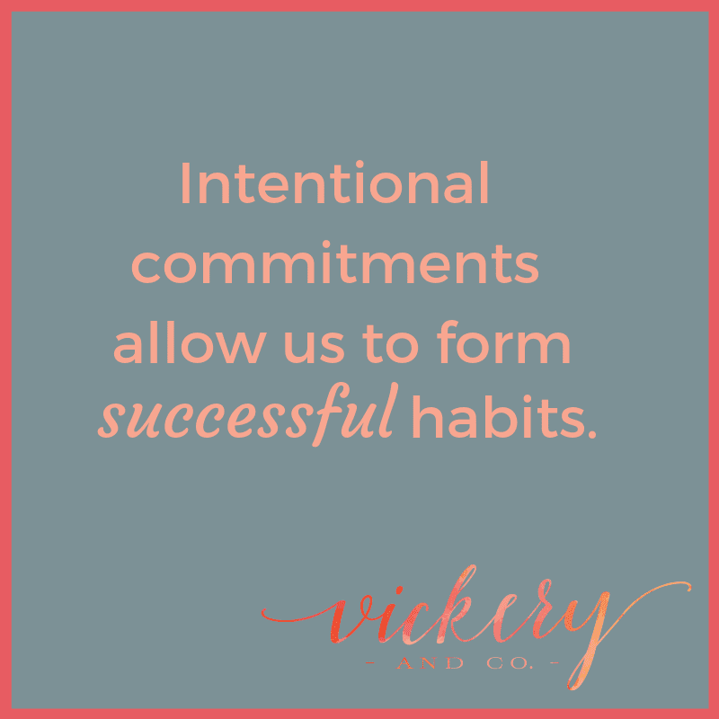 Success and Leadership coach, Heather Vickery talks about building successful habits with intentional commitments.