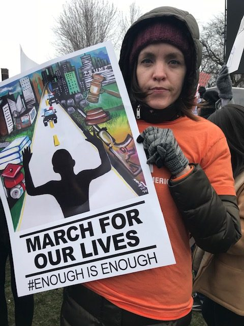 Nicole Zenner attend the March For Our Lives Rally. The Brave Files Podcast.