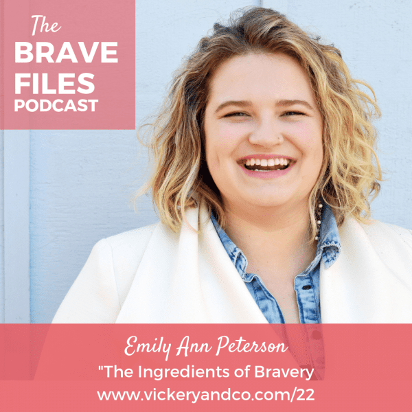 Emily Ann Peterson joins The Brave Files to share her life altering journey with neurological tremors and how this lead her to understanding the ingredients of bravery.